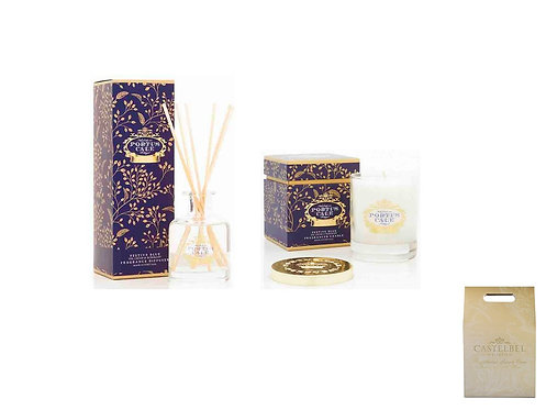 CASTELBEL / Festive Blue Diffuser 100ml and Candle (Clear Glass)