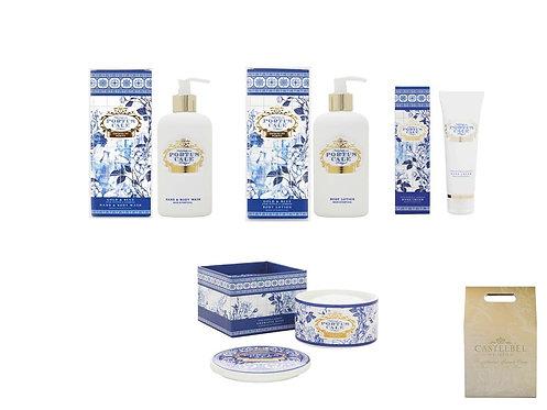 CASTELBEL / Gold & Blue Hand & Body Wash, Body Lotion, Soap & Hand cream