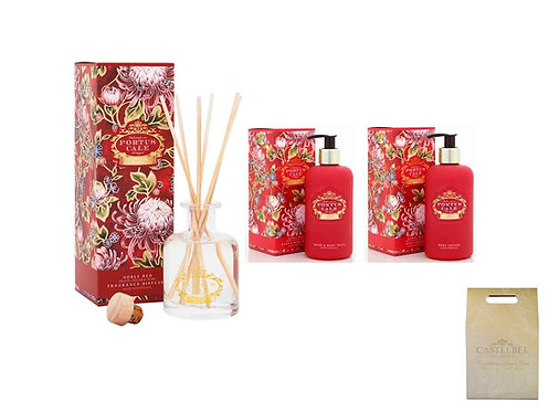 CASTELBEL / Noble Red Diffuser 100ml, Hand &  Body Wash & Body Lotion