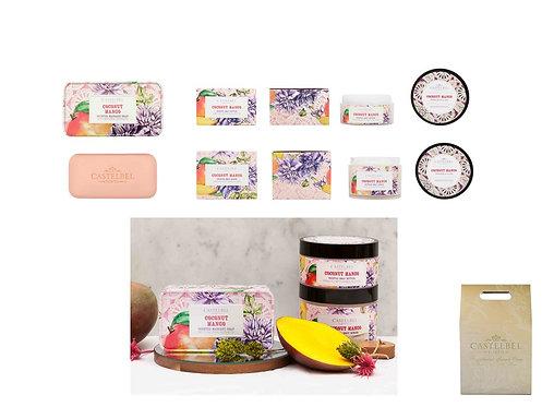 CASTELBEL / Coconut Mango Soap, Body Butter & Body Scrub