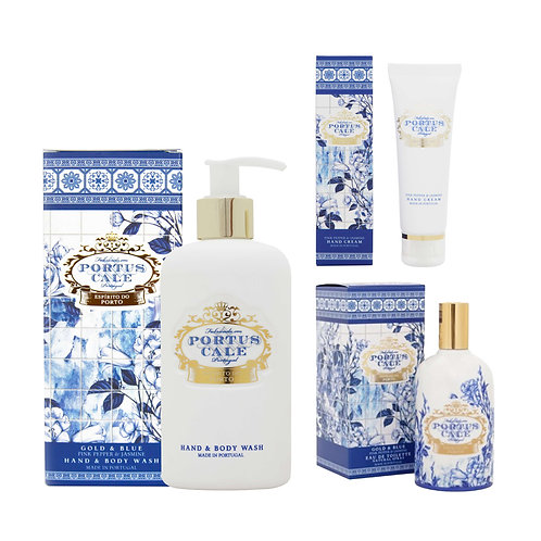 CASTELBEL / Gold and Blue Toilette, Hand & Body Wash and Hand Cream