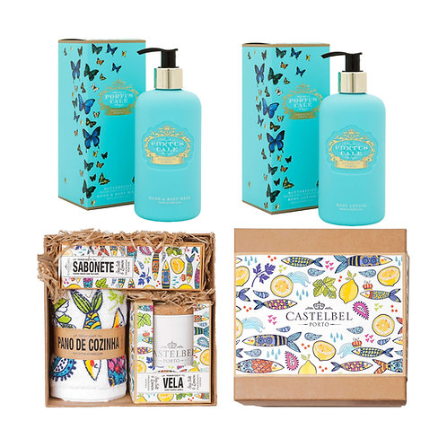 CASTELBEL / Butterfly Hand & Body Wash, Body Lotion, Sardine Gift Set