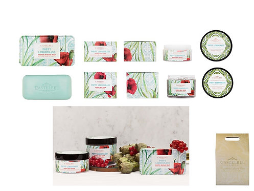 CASTELBEL / Poppy Lemongrass  Soap, Body Butter &  Body Scrub