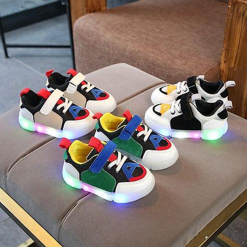 Zapatos Tenis deportivos  niños y niñas con led luminosos primavera verano 2021