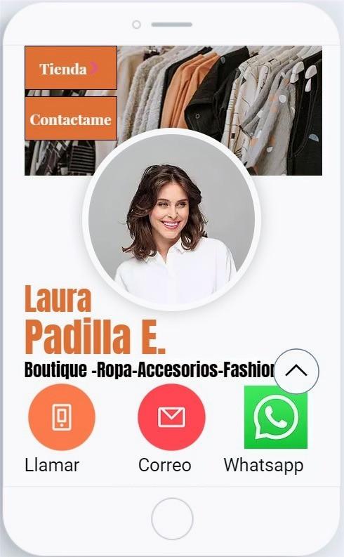 Tarjeta de Presentación Digital para Negocios venta de ropa
