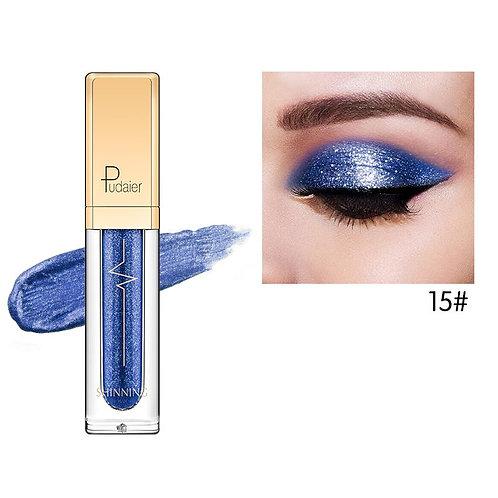 Sombra de ojos líquida Glitter & Glow de Pudaier - Color # 15 Azul oscuro