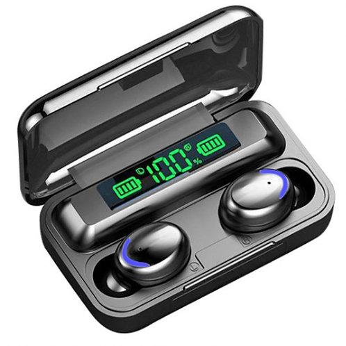 Auriculares Bluetooth F9-5 V5.0 TWS Pantalla LED Banco de energía  Micrófono Aur