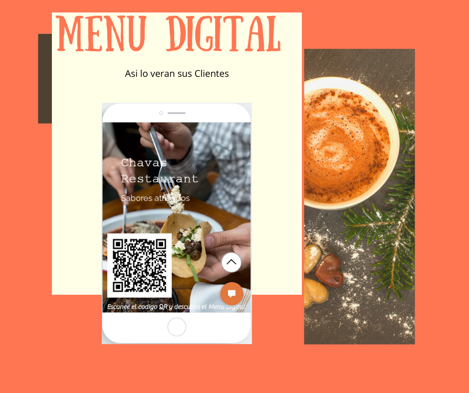 Menu Digital Muestra asi lo veran sus clientes