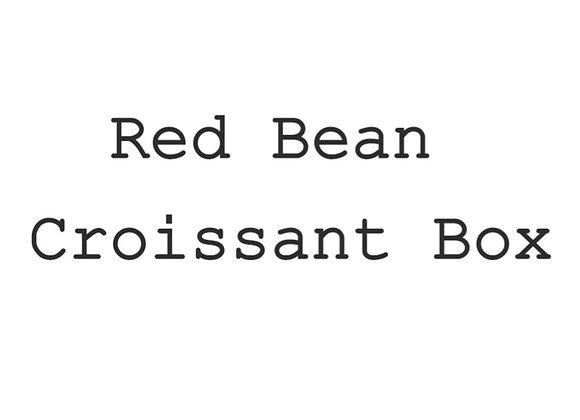 10pc Mini Red Bean Craquelin Croissant Box