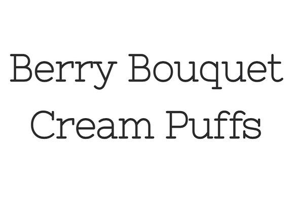 9pc Berry Bouquet Cream Puff Box