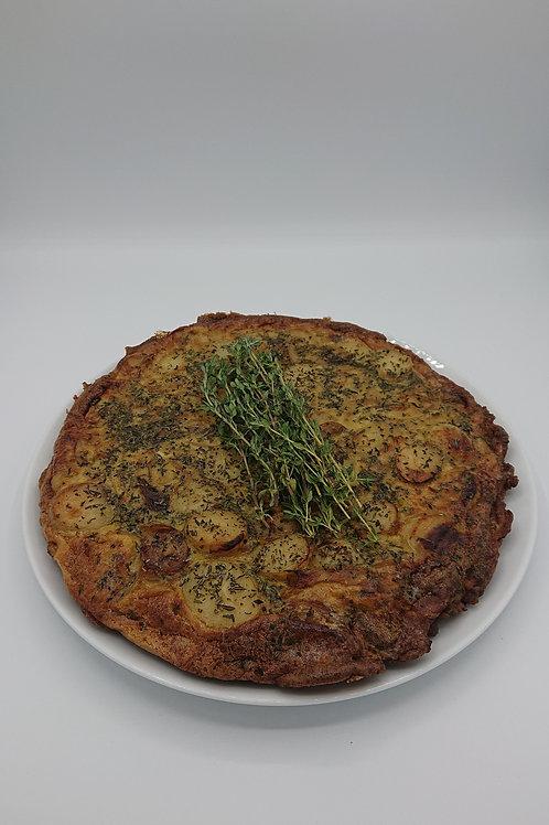 Traditional potato and onion