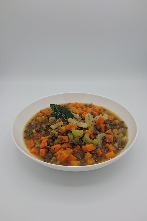 Puy lentil, root vegetable and thyme