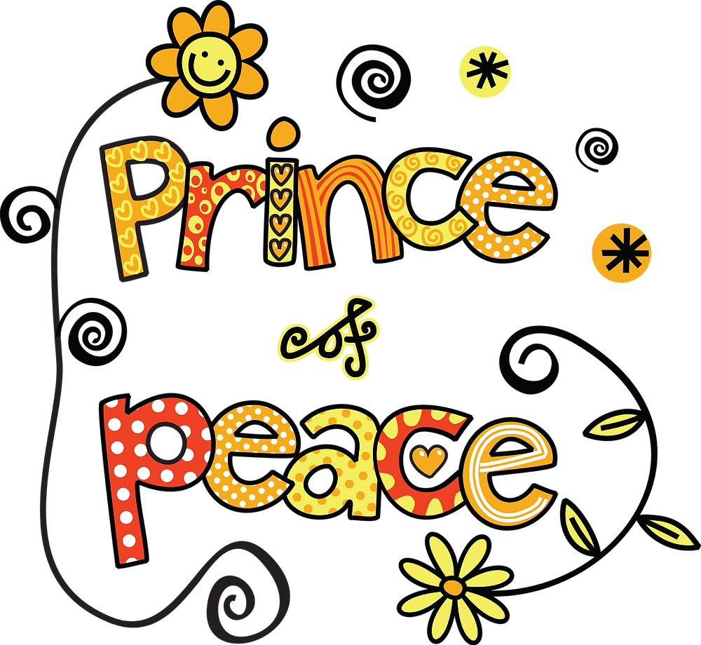 """Decorated Text reads """"Prince of Peace"""""""