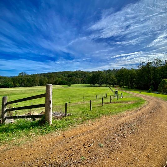 Big blue sky over the farm