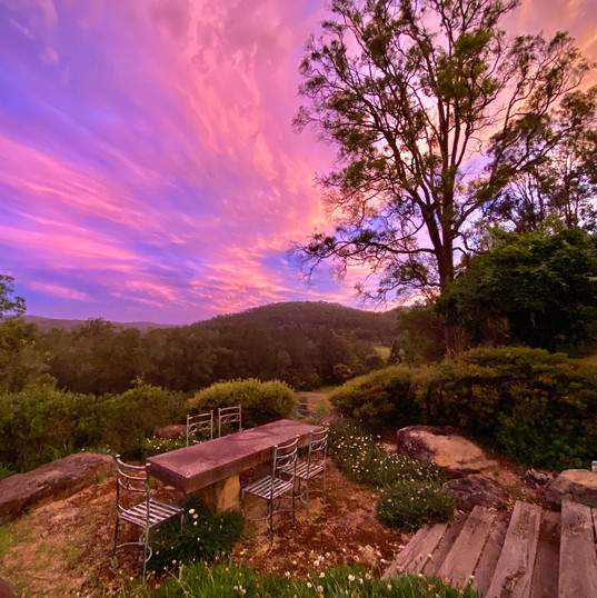 Spectacular sunset skies