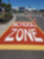 School zones Colour Treatment Diggerman Linemarking Sunshine Coast