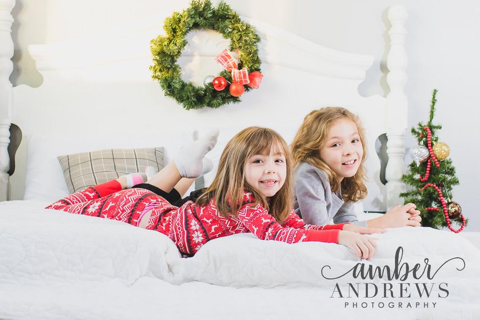 Sisters Christmas Jammies Session