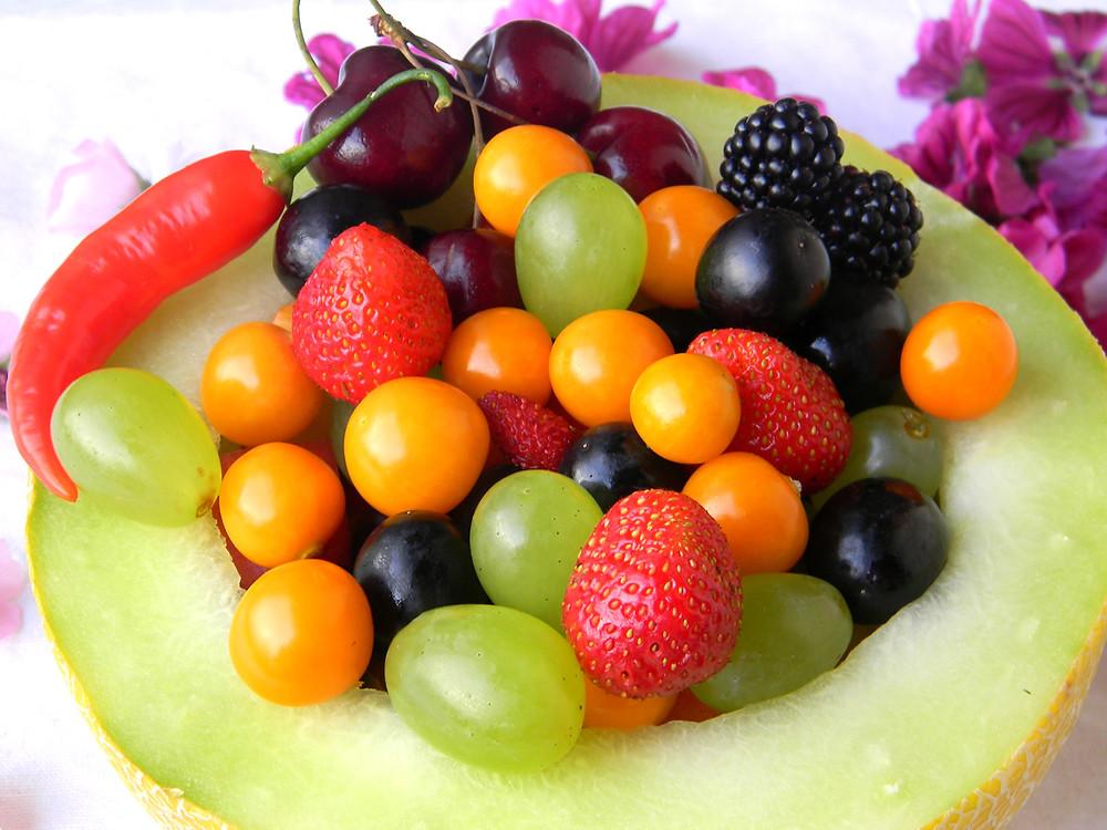 směs zdravého ovoce