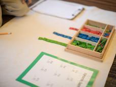 Montessori Materials: The Stamp Game
