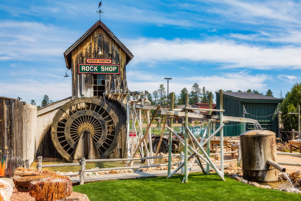 The Rock Shop water mill in Bryce.