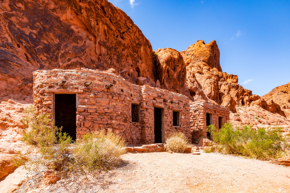 The Cabins built by the CCC in 1934 in Valley of Fire.