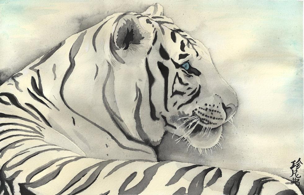 bai laahu watercolor painting by Jennifer Swartwood-Walker