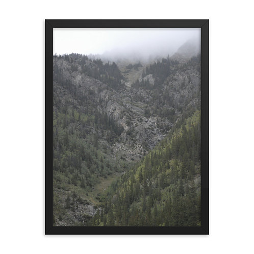 Framed The Valley Print