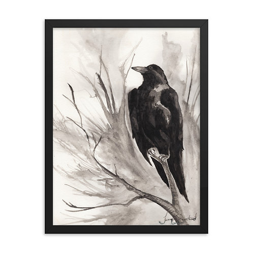Framed Watercolor Perched Print