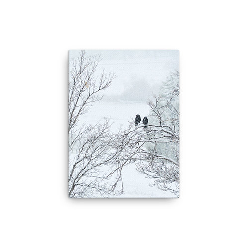 Winter Crows Print on Canvas
