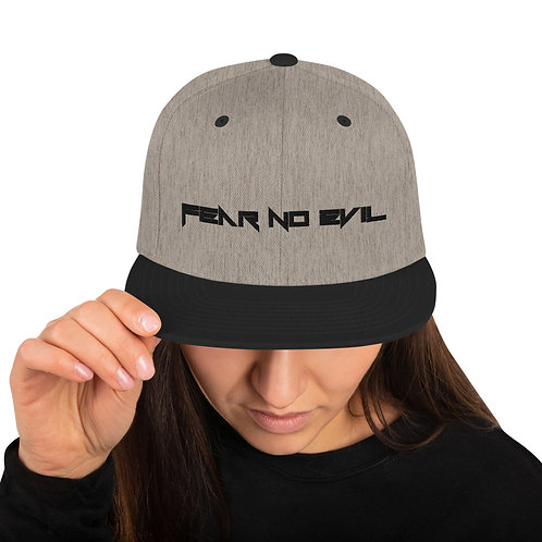 Fear No Evil Snapback Hat