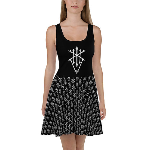 Ferrokin Pattern Skater Dress