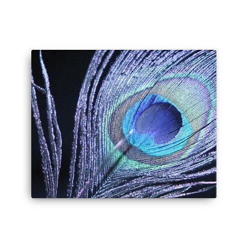 Peacock Print on Canvas