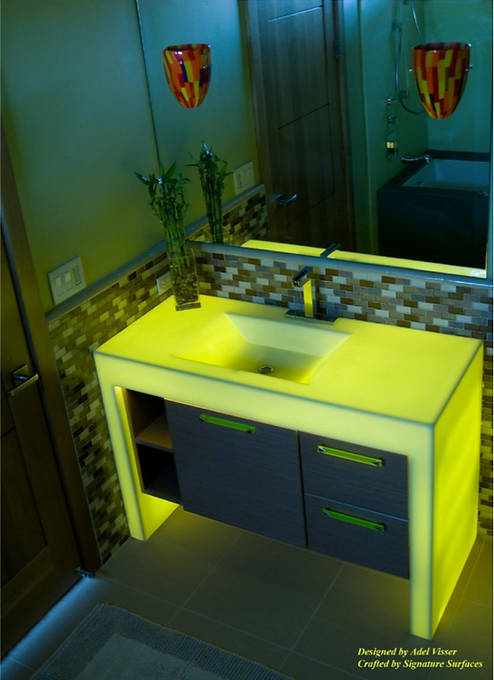 Custom Lime Bath Vanity