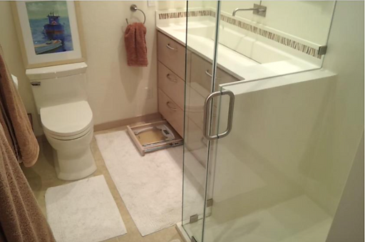Rice Paper Shower and Vanity