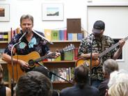Chris Samson and Steve Della Maggiora perform during the annual Petaluma Poetry Walk, September 2007.