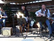 Scott O'Brien, Larry Potts, Chris Samson and Steve Della Maggiora perform at Hopmonk Brewery in Novato, Calif. in May 2014.