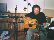 Chris Samson prepares to record his first CD at Mesa Recording Studio, Sebastopol, Calif., in May 2001.