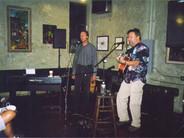 Rich and Chris Samson perform at the Petaluma Folk Music Concert Series, 2004.