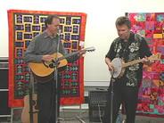 Rich and Chris Samson perform at the Petaluma Library Concerts, 2005.