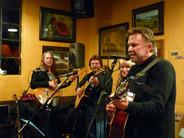 Chris Samson performs at Aqus Café in Petaluma, Calif. in 2008, accompanied by Preston Bailey, Gary Grubb and Pamela Joyce.