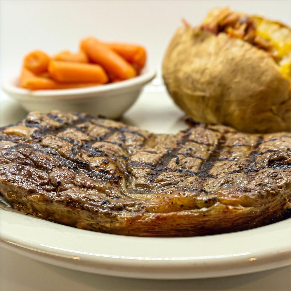 Ribeye steak at Acorn Grill