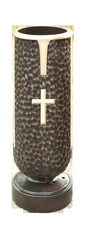 Memory Vase with Cross