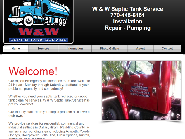 W&W Septic Tank Service Dallas GA Paulding County