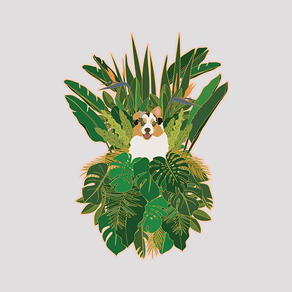 Jungle Dog VINYL Sticker