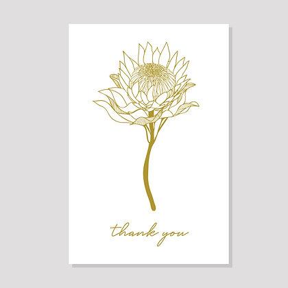 """Protea """"Thank You"""" Postcard"""