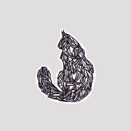 Geo Cat VINYL Sticker