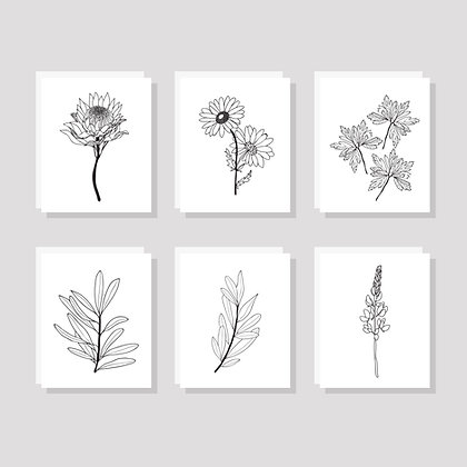 Botanical Card Set (Pack of 6)