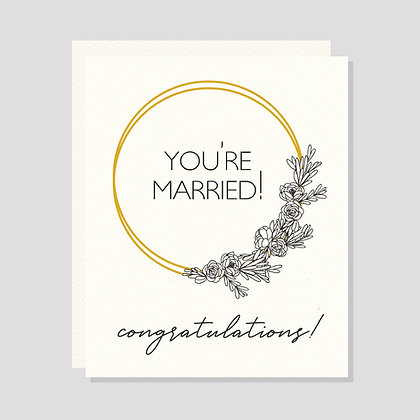 You're Married! Congratulations!
