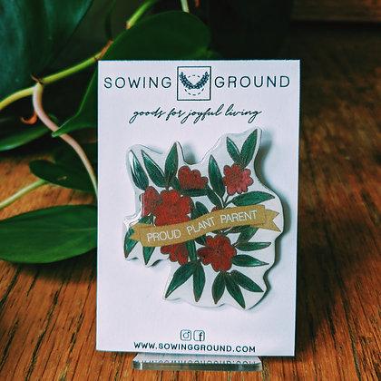 Proud Plant Parent Resin Lapel Pins