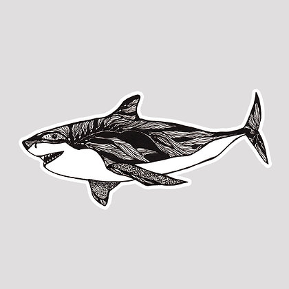 Great White Shark VINYL Sticker